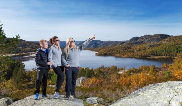Hiking in Knaben Kvinesdal southern Norway