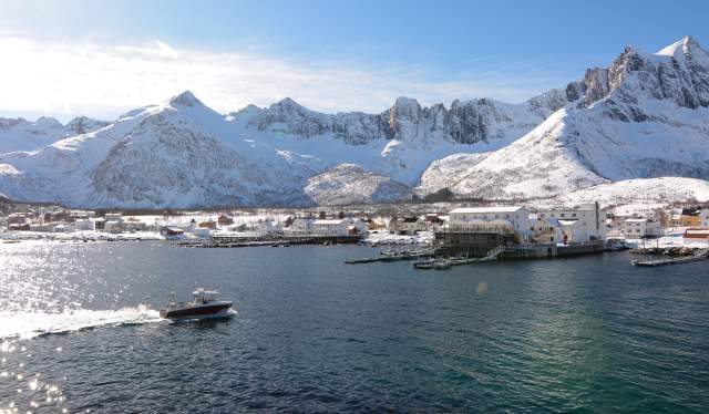 Mefjord in winter