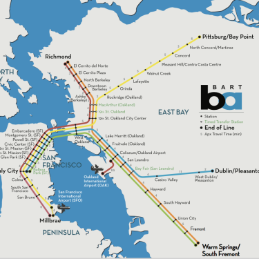 Bart Map Oakland Oakland Maps & Directions | BART Map | Oakland Airport Map Bart Map Oakland
