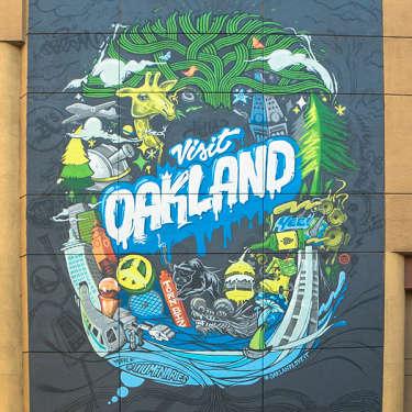 Marriott Oakland Warriors Mural