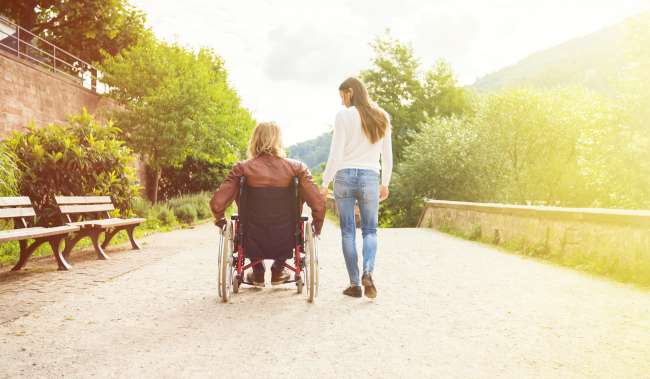 Young Couple in Wheelchair