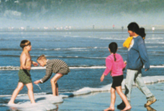 Kids on Clam Beach