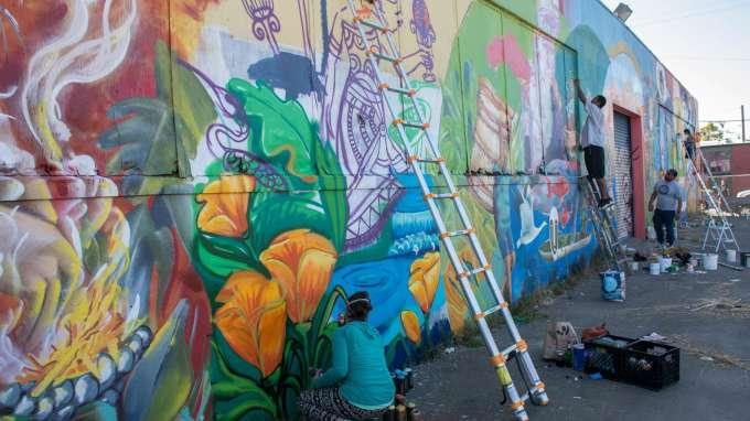 Los Pobres Artistas Mural