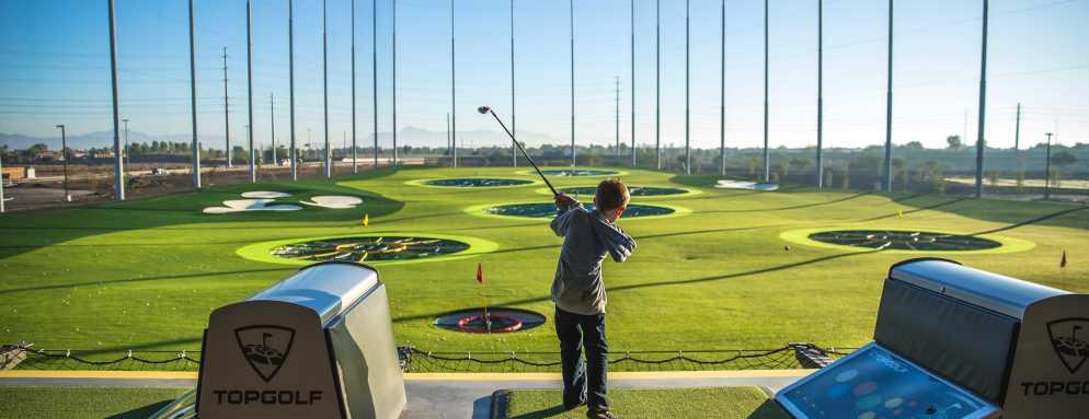 Child Golfer at Top Golf