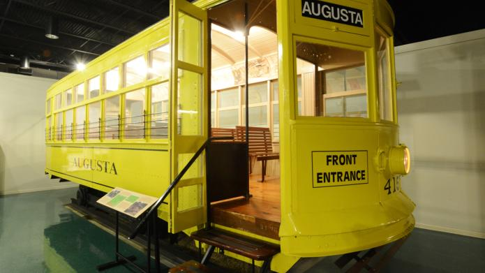 Augusta Museum of History yellow trolley