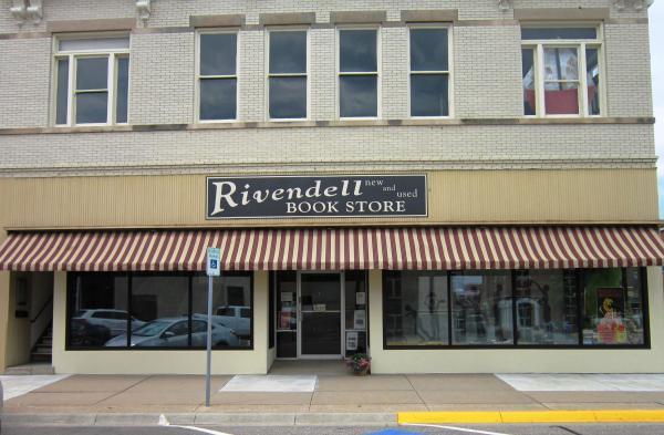 Storefront of the Rivendell Book Store in Abilene