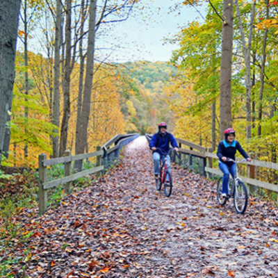 Fall Landing Page Biking