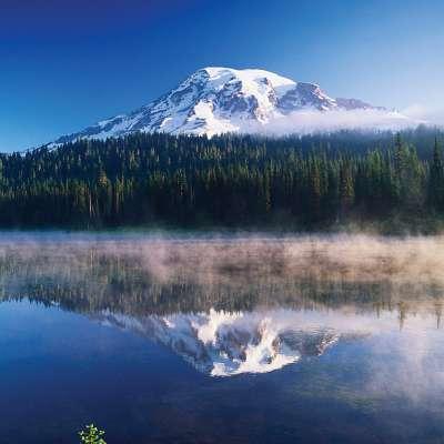 Reflection Lake at Mount Rainier National Park.