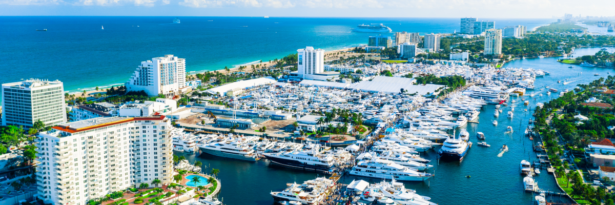 Aerial view of Fort Lauderdale's Intracoastal Waterway