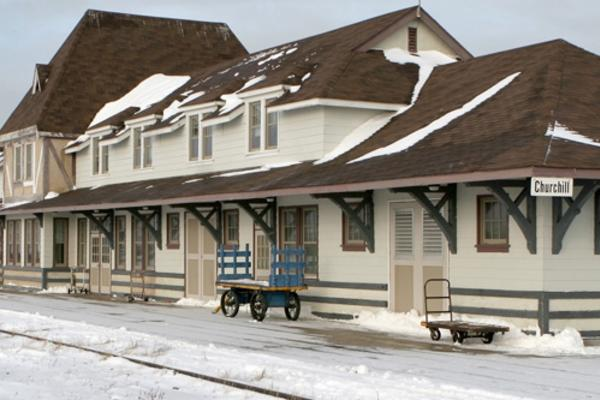 Historic Train Station in Churchill