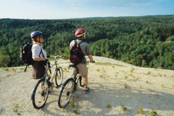 Biking at Riding Mountain National Park