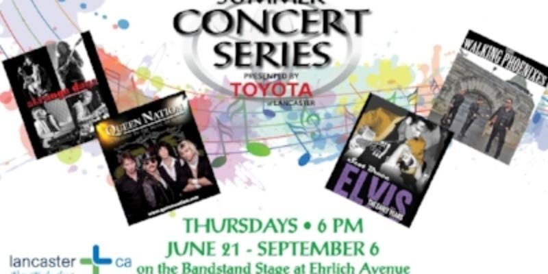 City Of Lancaster Announces 2018 Summer Concert Series Presented By Toyota  Of Lancaster