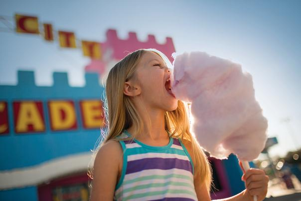 Arcade Attraction with Cotton Candy