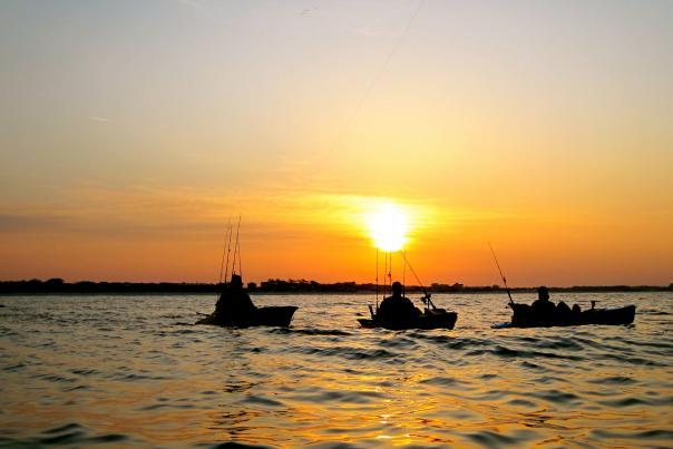 Kayak Fishing PCB Sunset