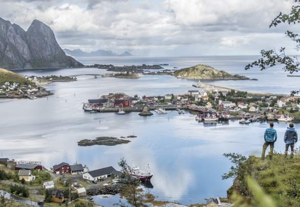 The village Reine in the Lofoten Islands, Northern Norway