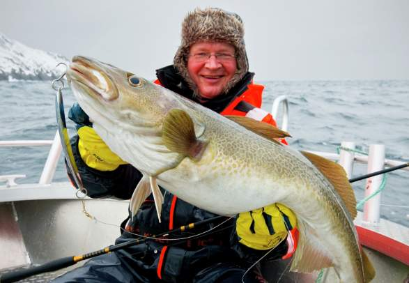 Winter fishing in Nusfjord, Lofoten