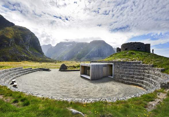 Restroom at Eggum, Norwegian Scenic Route Lofoten, Northern Norway