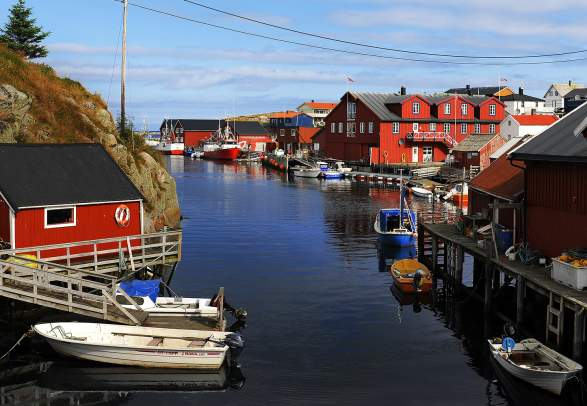 A small harbor in Mausund at the coast of Trøndelag