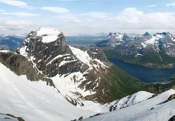 Sjunkhatten national park in Nordland, Northern Norway