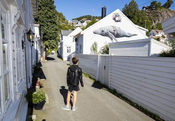Street art in Hollenderbyen Flekkefjord