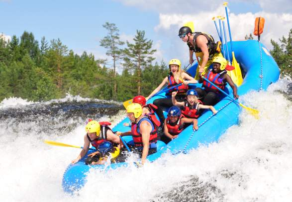 Rafting at TrollAktiv in Evje