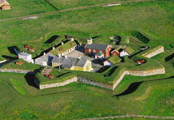 Vardøhus Fortress viewed from above, Northern Norway