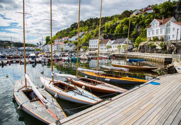 Old wooden boats in Risør