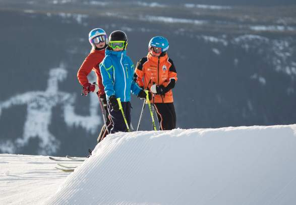 Alpine skiing in Hafjell, Eastern Norway