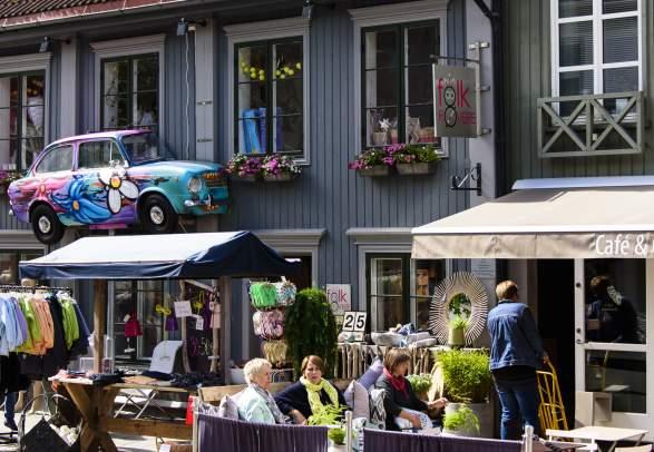 Lillehammer sentrum i Gudbrandsdalen på Østlandet