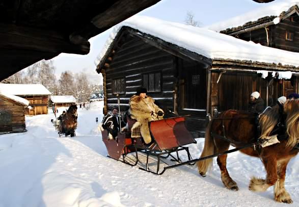 Kanefart på Maihaugen i Lillehammer