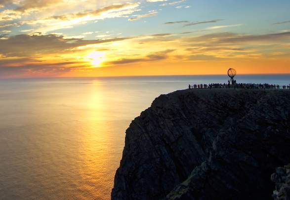 The North Cape plateau in midnight sun
