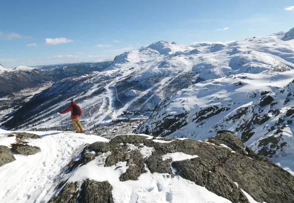 Alpine skiing in Hemsedal, Eastern Norway