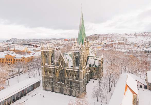 The Nidarosdomen cathedral in Trondheim, Trøndelag