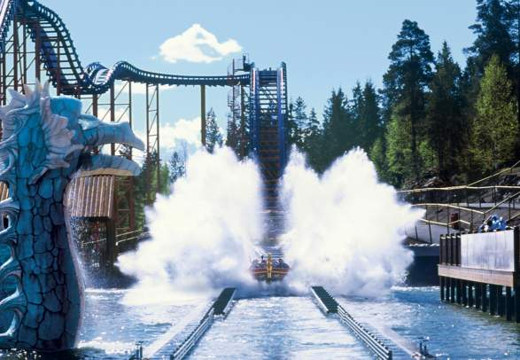 SuperSplash at TusenFryd amusement park