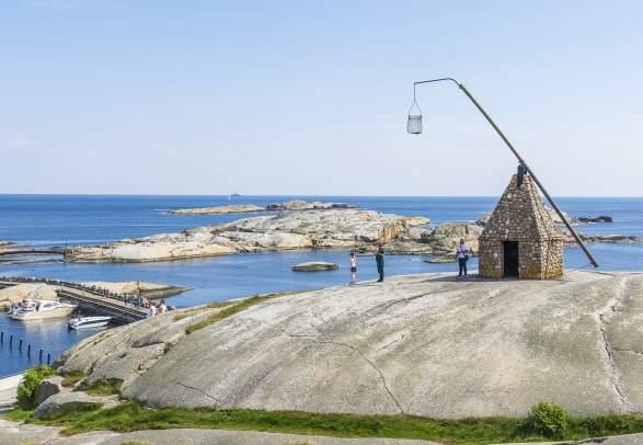 """Vippefyret at Verdens Ende, """"The World's End"""", in Færder national park in Vestfold"""