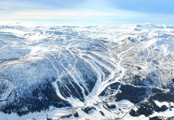 Skianlegget i Hemsedal om vinteren