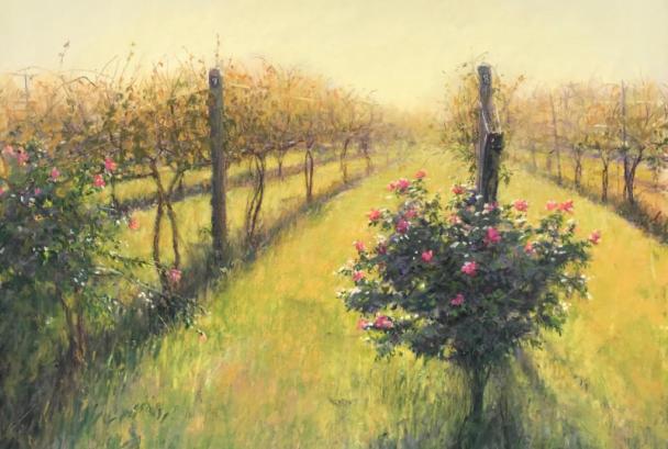 Painting of a Loudoun vineyard