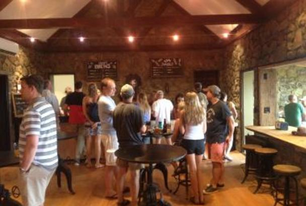 Crowd drinking in Dirt Farm Brewing Company