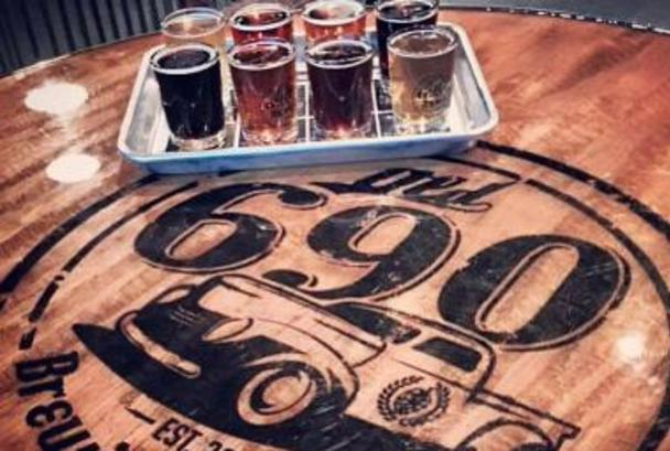 8-Beer flight at Old 690 Brewing Company