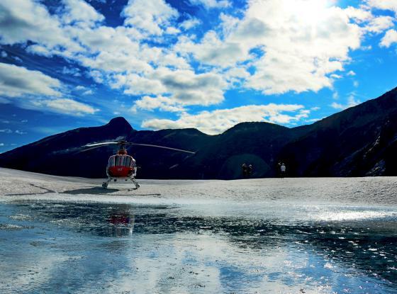Helicopter at Taku Glacier