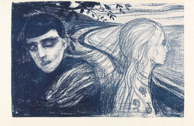 "Munch's painting ""Separation"""