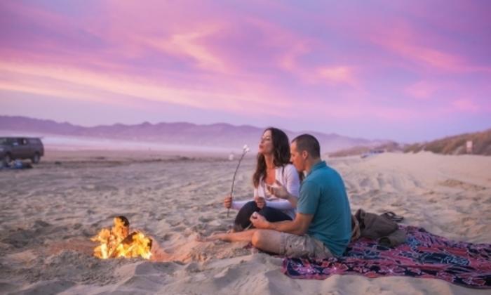 Beach Sunset Fire