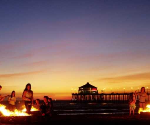 A Huntington Beach Bonfire