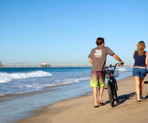 Bike The Ocean Strand In Huntington Beach