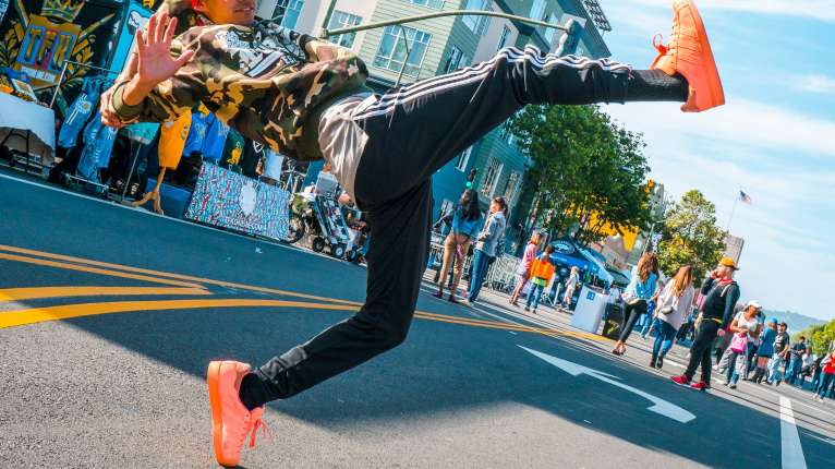 TURF Dancing during Oakland First Fridays