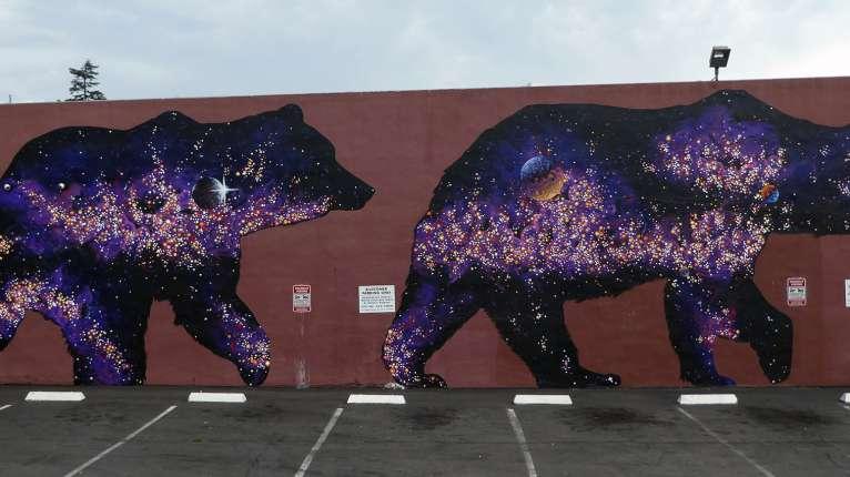 Space Bears Mural