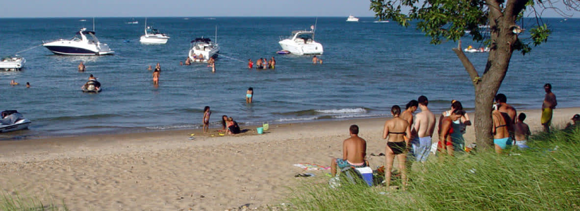 Whihala Beach And Whiting Lakefront Lake Michigan Indiana