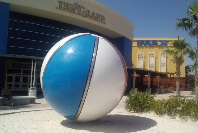 Pose for a Photo with the Large Beach Ball at Pier Park-2146-31