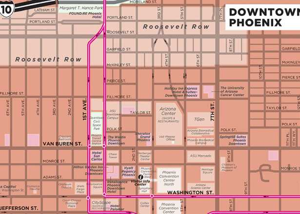 Map Of Downtown Phoenix Phoenix Maps | Greater Phoenix Trail Guides & Street Maps Map Of Downtown Phoenix