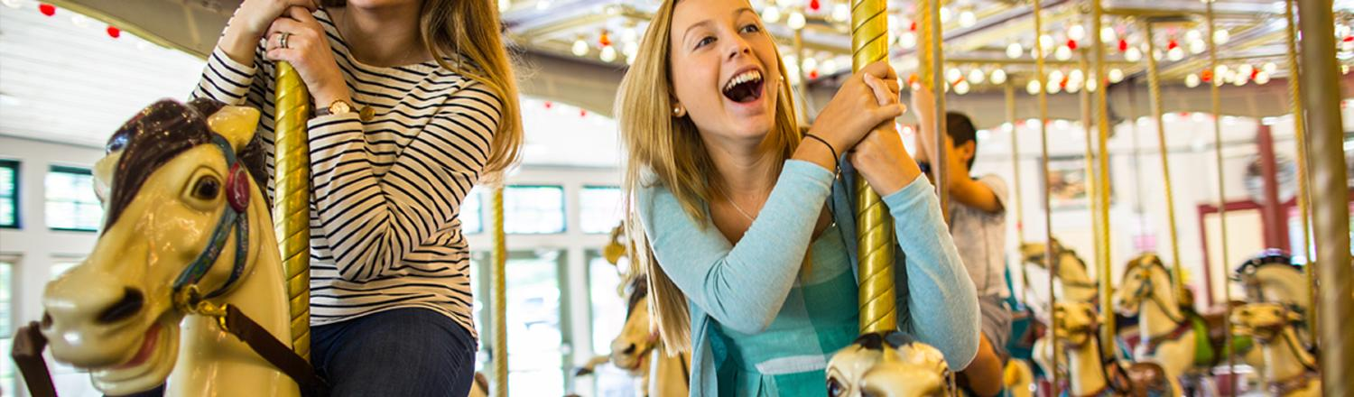 Family Fun on the Providence merry-go-round carousel
